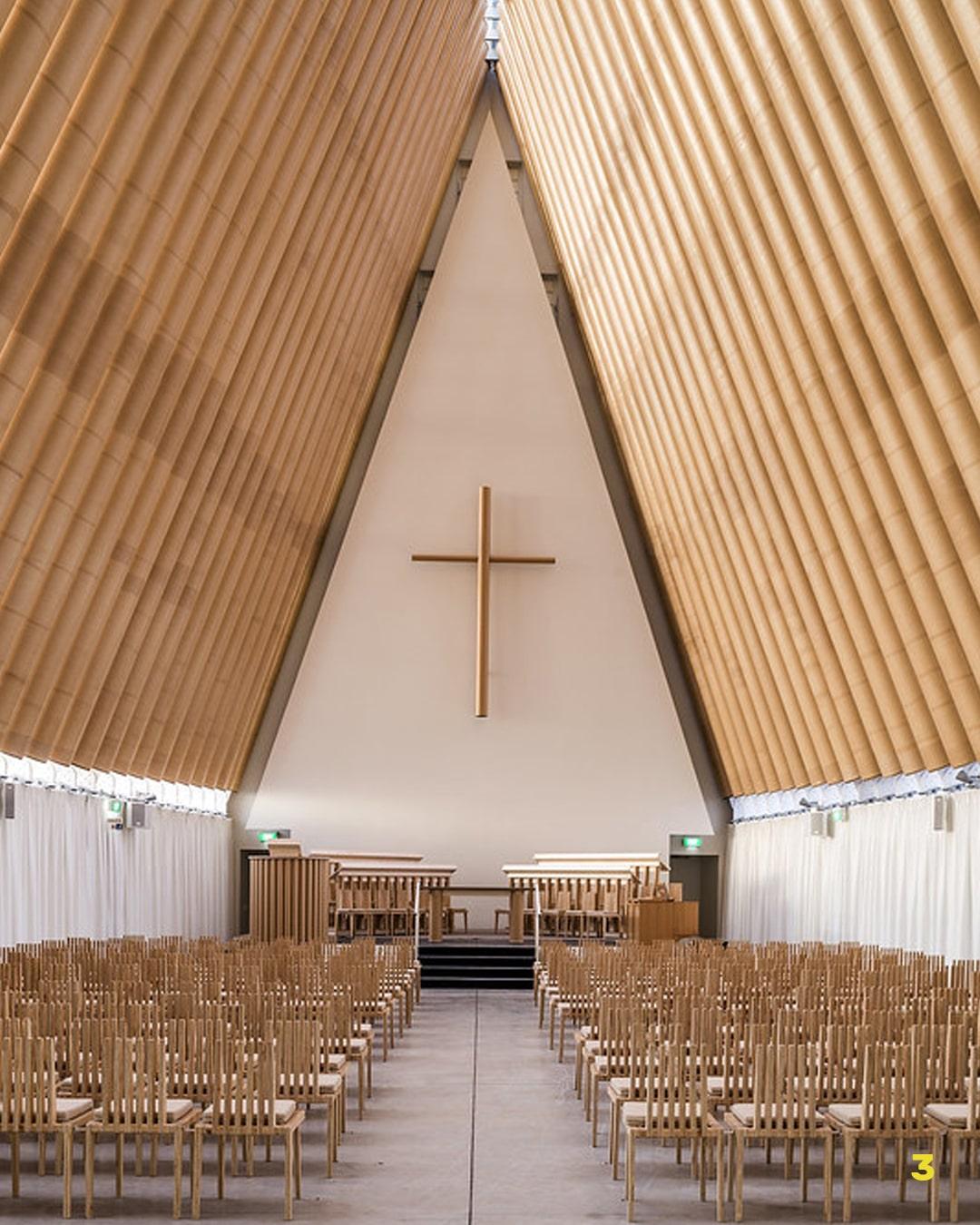 Shigeru Ban Cardboard Cathedral design ecosostenibile
